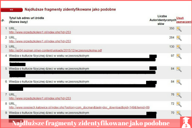 Poprawa plagiatu raport podobieństwa