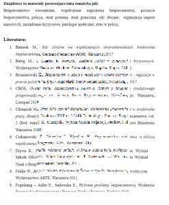 Bibliografia z bezpieczeństwa wewnętrznego