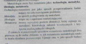 metodologia badań wybrane definicje