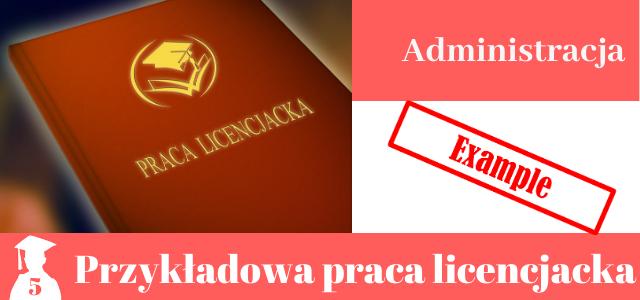 praca licencjacka administracja pdf