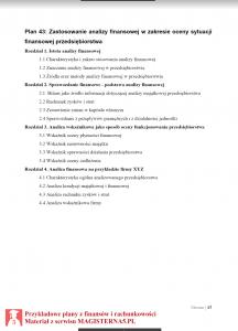 przykładowy plan pracy licencjackiej z finansów i rachunkowości