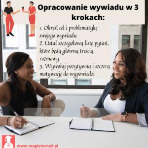 Jak stworzyć poprawny wywiad