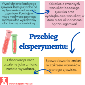 Etapy eksperymentu